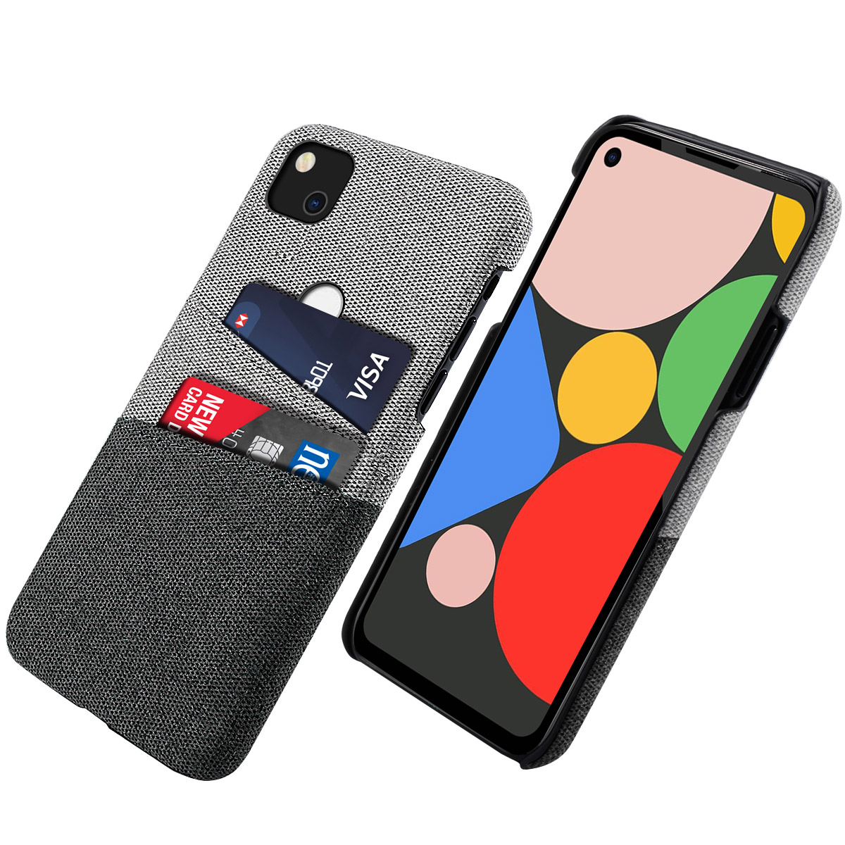 Pixel 4a Case | For Google Pixel 4A Case Slim Retro Matte Fabric Cloth Hard PC Protective Cover For Google Pixel 3A XL Pixel 3XL Case Card Slot