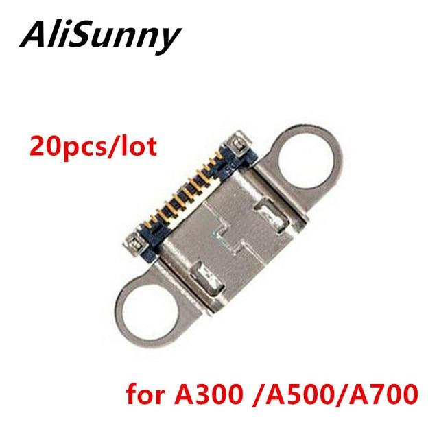 AliSunny 20 stücke USB Port Dock Connector für SamSung A3 A5 A7 A300 A500 A700 Lade Micro Buchse Stecker Ersatz teile