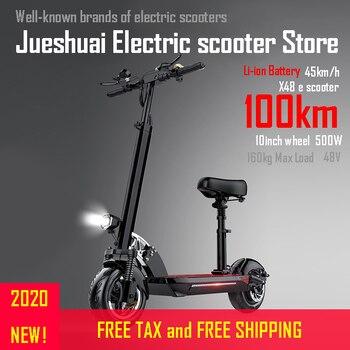 Patinete eléctrico de larga distancia de 120km, patinete eléctrico de 10 pulgadas 48V500W con Motor y buena batería de Li, patinete eléctrico plegable para adulto
