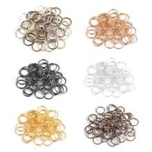 Ciseng 200 pçs/lote 4mm metal saltar anéis prata/ouro/bronze cor split anéis conectores para diy jóias encontrando fazer