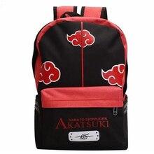 Sac à dos Anime Manga Naruto, sac messager épaule, sac à dos pour lécole avec symbole de nuage Naruto Akatsuki, sac pour les élèves
