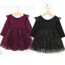 One Piece Outfits Baby Girls Toddler Tutu Dress Ruffle Long
