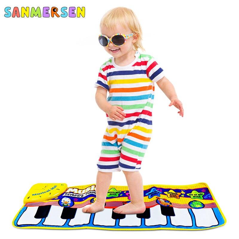 Tapete Musical do bebê Playmat Teclado Animal Esteira Tocar Música de Piano Aprendizagem Precoce Brinquedos Educativos para Crianças Crianças Enigma Presentes
