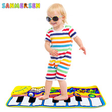 Baby Musical Carpet Keyboard Playmat Animal Music Play Mat Piano Early Learning Educational Toys for Children Kids Puzzle Gifts цена и фото
