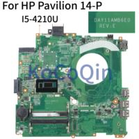 KoCoQin Laptop motherboard For HP Pavilion 14 P 14 Inch Core I5 4210U SR1EF Mainboard DAY11AMB6E0