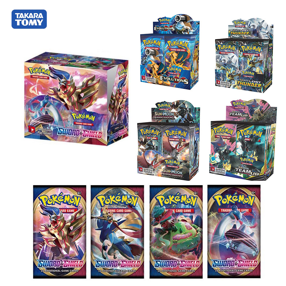 POKEMON Trading card game Sun /& Moon Lost Thunder XY Evolutions Booster Box Bundle