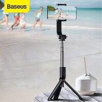 Baseus pau de selfie 3 em 1 com tripé, extensível, disparo de foto remoto e bastão de selfie