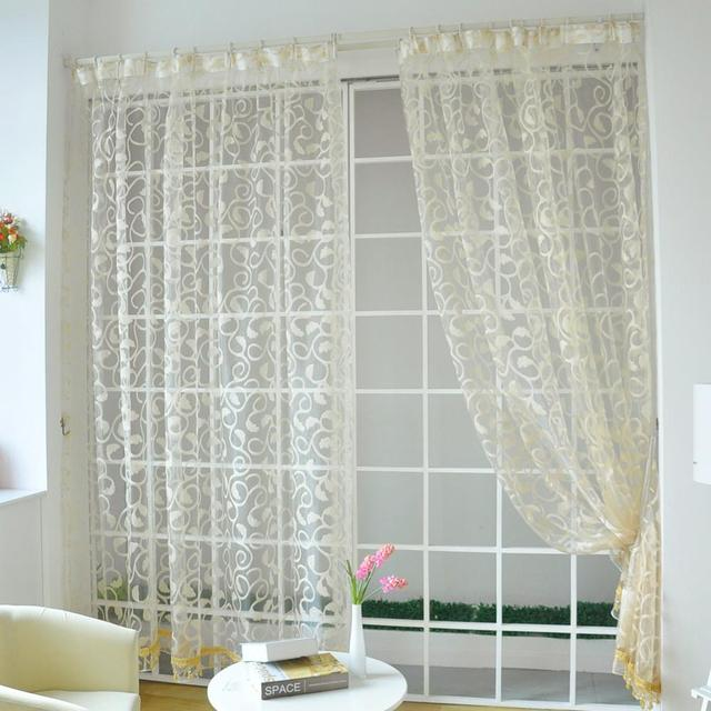 American Style Jacquard Floral Design Window Curtain 3