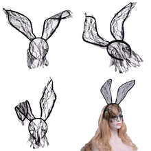Lace Women Party Masks Party Rabbit Ear Lace Headband Sexy Veil Mask Hair Decor Accessory Upper Half Face Mask Cosplay Supplies hair relaxers sexy hair sob44 hair masks restoration and nourishment mask