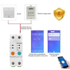 Image 2 - 2p ewelink monofásico ruído trilho wi fi inteligente consumo de energia medidor kwh wattmeter com alexa google para casa inteligente