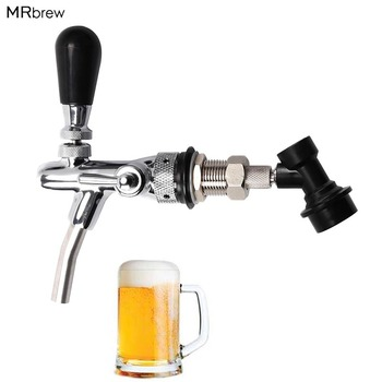 Adjustable Beer Faucet & Beer Tap Beer Shank Chrome Tap Plating With Ball Lock Disconnect Liquid for HomeBrewing Cornelius Keg adjustable g5 8 kegerator draft long shank beer faucet with flow controller chrome plating tap kit homebrew beer wine tool