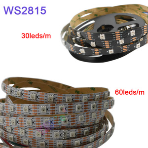 Image 1 - 5m/lot WS2815 pixel led strip light;DC12V 30/60 pixels/leds/m;IP30/IP65/IP67;Addressable Dual signal Smart led strip tape