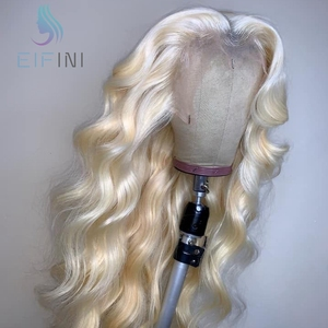 613 Blonde Lace Front Human Hair Wigs 13x6 Deep Part Remy Brazilian Body Wave Lace Front Wigs Pre Plucked For Black Women Eifini(China)
