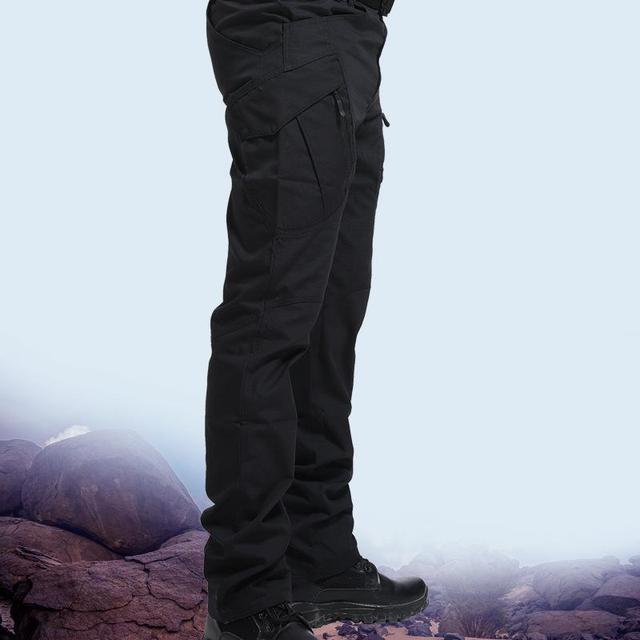 Men's Tactical Pants Multi Pocket Elastic Military Trousers Male Casual Autumn Spring Cargo Pants For Men Slim Fit 5XL 3