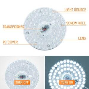 Image 4 - Потолочный светодиодный светильник, потолочная лампа на замену в виде осьминога, 220 В переменного тока, 12 Вт, 18 Вт, 24 Вт, 36 Вт