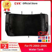 CVK de la motocicleta radiador de aluminio de enfriador de tanque de agua de enfriamiento para HONDA CBR600 CBR600RR 2003, 2004, 2005, 2006 F5 CBR 600 RR 03 04-06