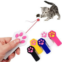 Creative Funny Shaped Electric LED Cat Laser Pointer Toys Cute Kitten Paw Shape Interactive Toy Pet Scratching Training Tool