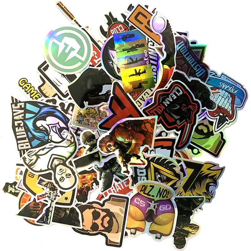 10/30/50pcs Pack Cartoon Cs Go Stickers Waterproof PVC Motorcycle Skateboard Luggage Snowboard Car Guitar Cool Sticker Kids Toys