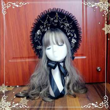 Lolita headdress lace bnt court hat gothic Sweet lolita cap collection kawaii girl hair accessories gothic lolita cosplay girl фото