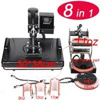 8 In 1 Heat Press Machine For Plate/Mug/Cap/TShirt Etc, Press printer,Multifunctio sublimation Heat Press/Heat Transfer Machine