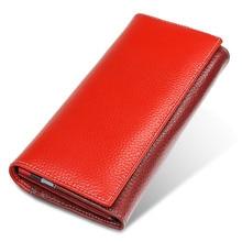 цена на Women's Wallets Luxury Brand Genuine Leather Female Clutch Long Wallet High Capacity Ladies Purses women Money Bag Dollar Price