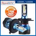 BraveWay светодиодные фары для Авто супер светодиодные лампы для автомобиля лампочки H1 H4 H7 H11 9005 9006 Led HB3 HB4 12000LM 12В диодные лампы птф светодиодные ...