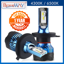 BraveWay H4 Led Headlight for Auto Super LED Bulb for Car Light Bulb H1 H3 H7 LED H11 9005 9006 HB3 HB4 12000LM 12V Diode Lamps
