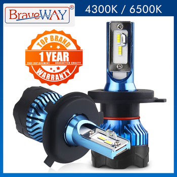 BraveWay H4 Led Headlight for Auto Super LED Bulb for Car Light Bulb H1 H3 H7 LED H11 9005 9006 HB3 HB4 12000LM 12V Diode Lamps