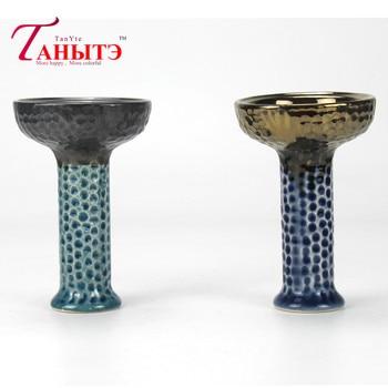 Color al azar 100% de cerámica cuenco para pipa de agua Nargile de Sheesha Narguile Chicha Cachimbas tubería de agua árabe agujero de abejas cuenco de Shisha Narguile