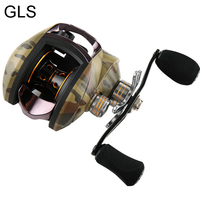 Classic Delicate 12+1 Bearings Low Profile Baitcasting Fishing Reel 8.1:1 Speed Ratio Right/Left Hand Fish Reels