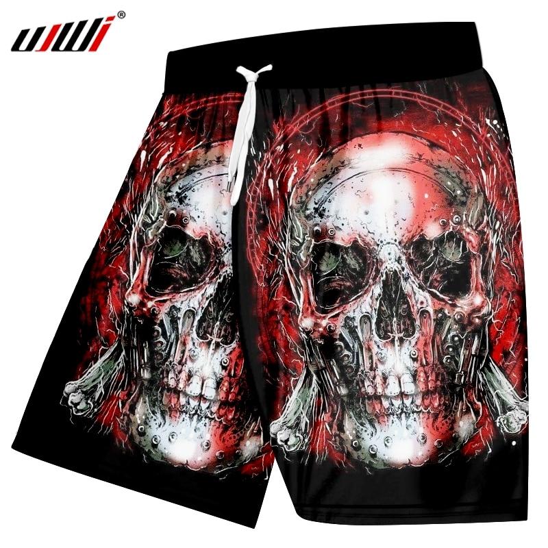 UJWI Skull   Shorts   Men Black Band Casual   Shorts   Cargo Cool 3d Printed   Shorts   Beach Mens   Short   Pants Summer 2019 New High Quality