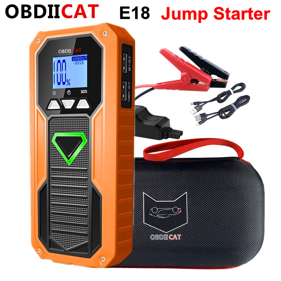 OBDIICAT Battery Car-Starter Power-Bank Auto-Buster Emergency-Booster Mini Portable Real-12000mah title=