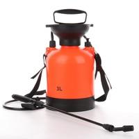 3L Orange Hand Pressure Trigger Sprayer Bottle Adjustable Copper Nozzle Head Manual Air Compression Pump Spray Bottle 1 Pcs