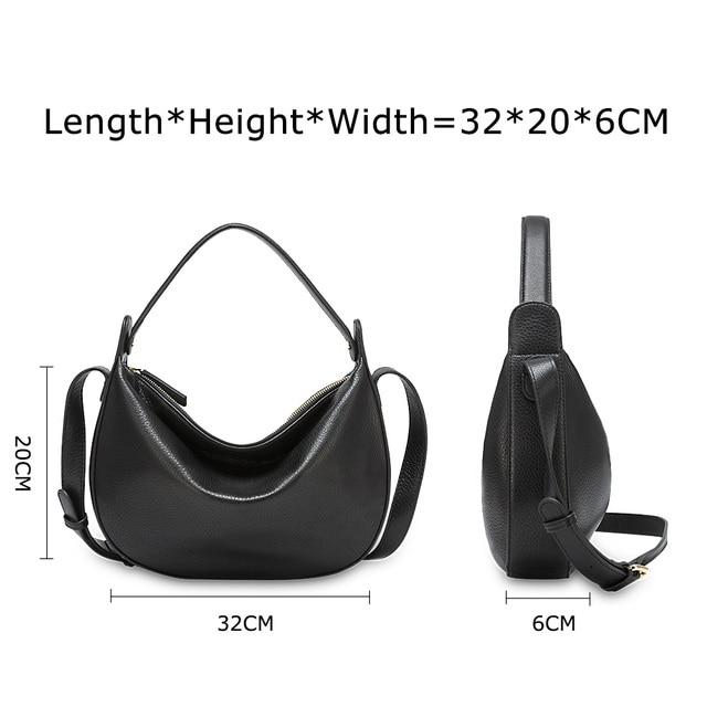 Zency mode femmes sac à bandoulière en cuir véritable haute qualité seau sacs élégant dame fourre-tout sac à main noir bleu