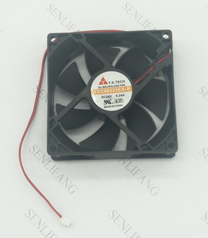 Free Shipping For Y.S TECH FD249225ES-N DC 24V 0.24A 92x92x25mm Server Cooler Fan
