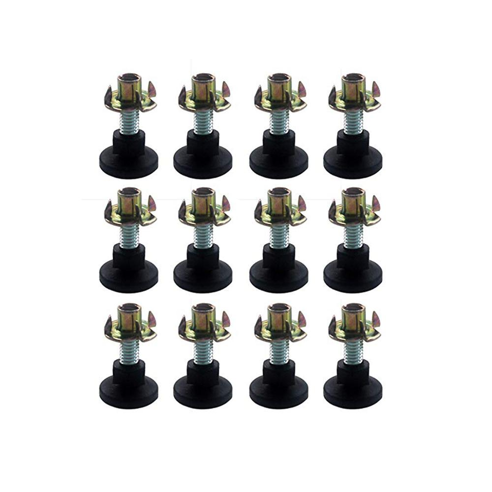 12Pcs DIY Adjustable Leg Leveler Glide With A Plastic Base T-Nut Also Included-This Furniture For Tables, Chairs, Cabinets