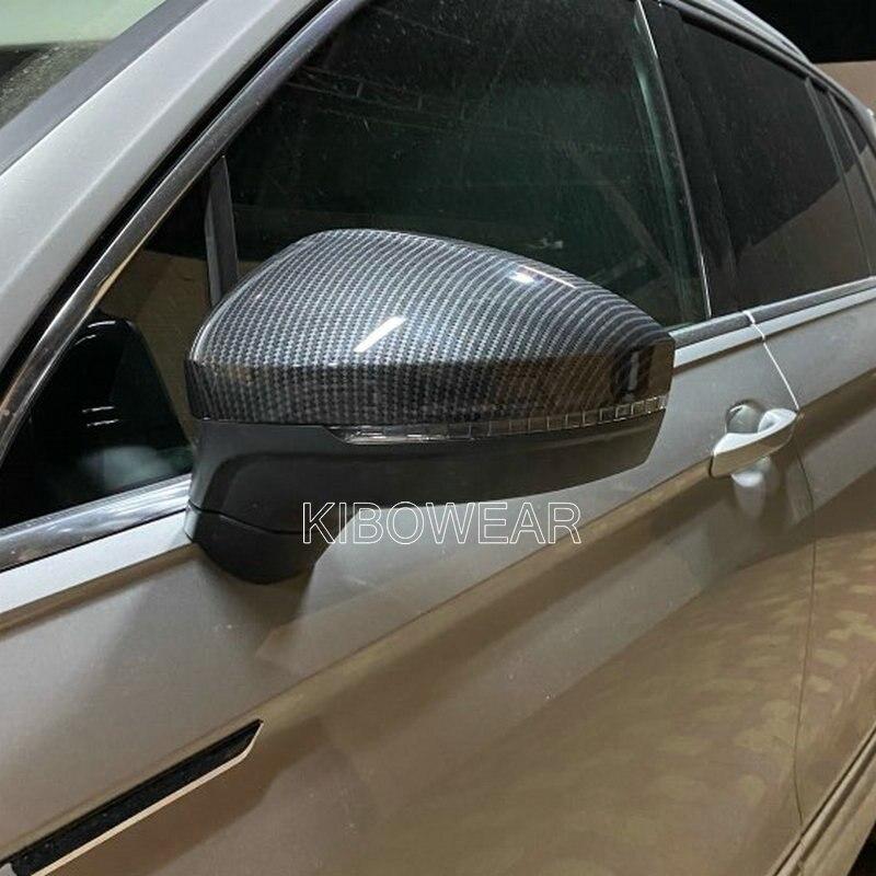 Крышки для боковых крыльев зеркал для VW Tiguan Allspace L MK2 2017 2018 (Carbon Look), замена 2019 2020 пар