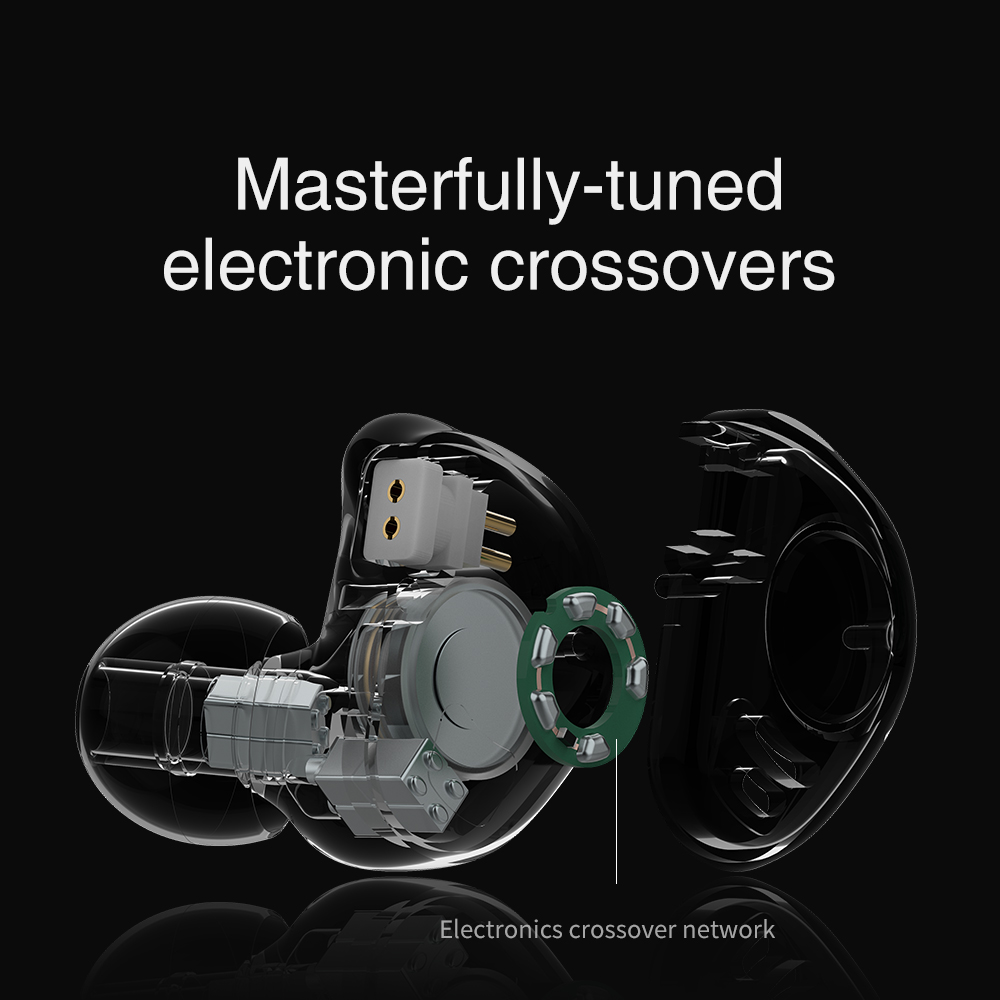 Image 5 - TRN V90 1DD 4BA Metal Headset Hybrid Units HIFI Bass Earbuds In  Ear Monitor Earphones Noise Cancelling Earphone V80 ZSX V30 X6 CPhone  Earphones