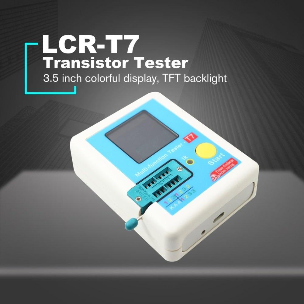 LCR-T7 Transistor Tester TFT Diode Triode Capacitance Meter LCR ESR Meter NPN PNP MOSFET IR Multifunction Tester