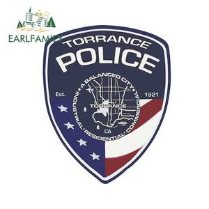 EARLFAMILY 13cm x 10.5cm for Patch Torrance Police Department Occlusion Scratch Windows Car Sticker Decal for Anime Motorcycle