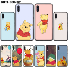 Winnie the Pooh Abdeckung Schwarz Soft Shell Telefon Fall Für Samsung S6 S7 rand S8 S9 S10 e plus A10 a50 A70 note8 J7 2017(China)