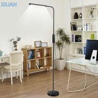 Nordic Modern Living Room Floor Lamp Standing 360 Flexible Arm 25 Level Dimmable Eye Care Work Study Bedside Floor Light LED