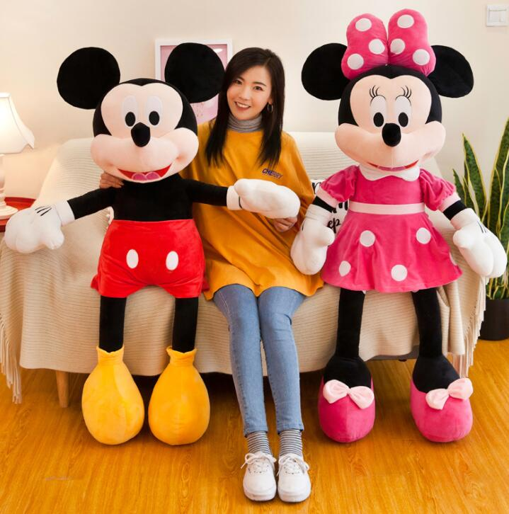 2019 Hot Sale 40-50cm High Quality Stuffed Mickey&Minnie Mouse Plush Toy Dolls Birthday Wedding Gifts For Kids Baby Children