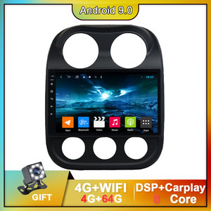 For JEEP Compass Patriot Car Radio Bluetooth 2010-2016 Stereo 2 Din Player Antenna GPS Navigation Carplay DSP OBD No CD Player(China)