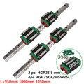 HGR тип квадратная линейная направляющая HGR25 950 мм 1000 мм 1050 мм линейная направляющая блок слайдов HGH25CA HGW25CC для чпу