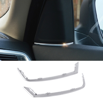 Car Front Door Audio Speaker Strip Stereo Decal Cover Trim Sticker For BMW 5 Series 2011-2013 F10 image
