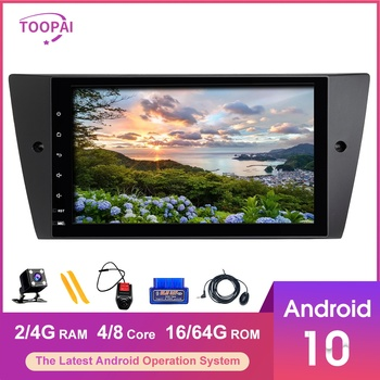 TOOPAI Android 10 For BMW E90 E91 E92 E93 M3 Sedan Touring Convertible Auto Radio Head Unit Car Multimedia GPS Navigation DVD image