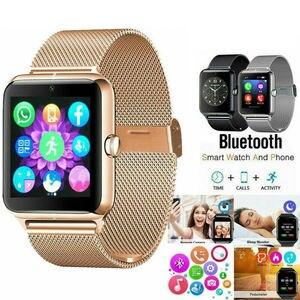 Умные часы Z60 из нержавеющей стали с Bluetooth для Samsung, iphone, Android