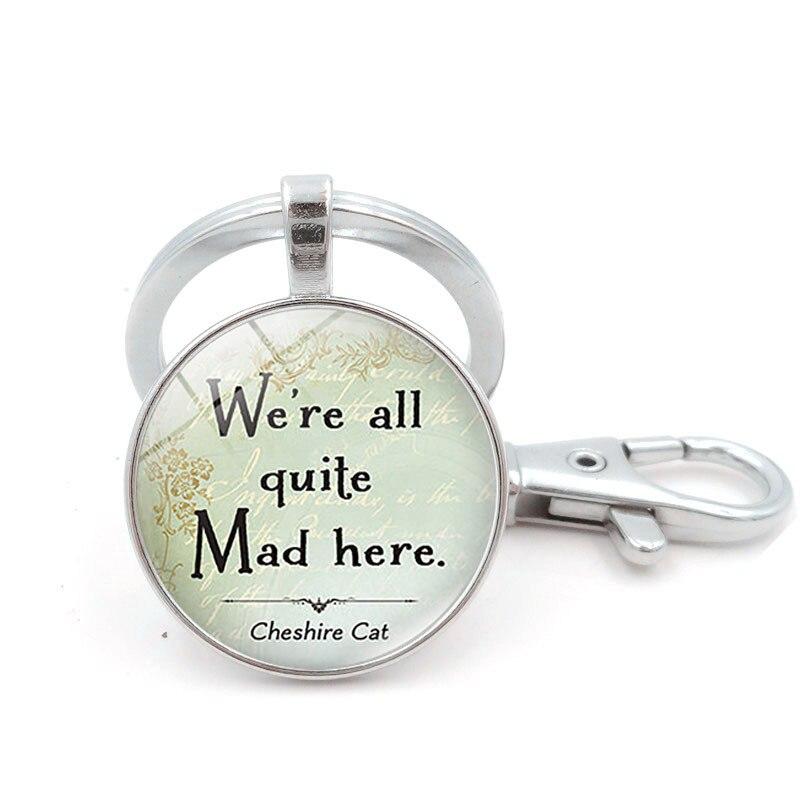 Купить брелок для ключей с изображением чеширского кота в стране чудес