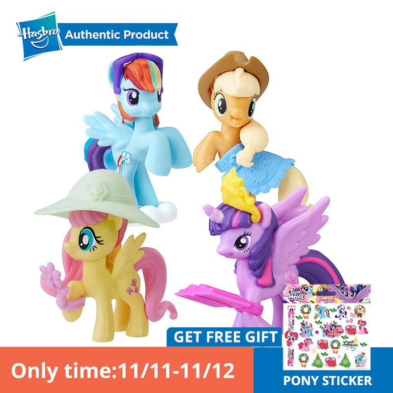 Hasbro My Little Pony 2 Inches Friendship Is Magic Fluttershy Story Twilight Rainbow Dash Apple Jack Pony Action Figure Dolls